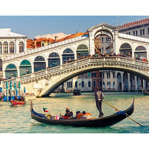 Мост Риальто Алмазная вышивка (мозаика) Гранни