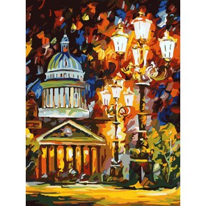 Мерцание ночи Санкт-Петербурга Раскраска ( картина ) по номерам акриловыми красками на холсте Белоснежка