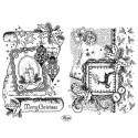 Рождественская открытка Набор прозрачных штампов для скрапбукинга, кардмейкинга Viva Decor