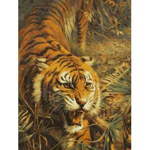 Свирепый хищник Раскраска ( картина ) по номерам акриловыми красками на холсте Белоснежка