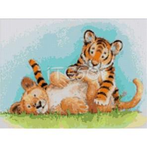Милые тигрята Алмазная вышивка (мозаика) Iteso