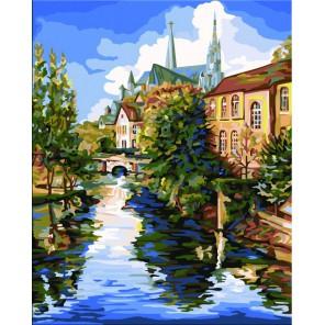 Шартрский собор (художник Боб Петтес) Раскраска картина по номерам Plaid