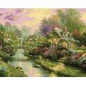 Мост с фонарями Раскраска картина по номерам Plaid