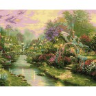Мост с фонарями Раскраска картина по номерам акриловыми красками Plaid
