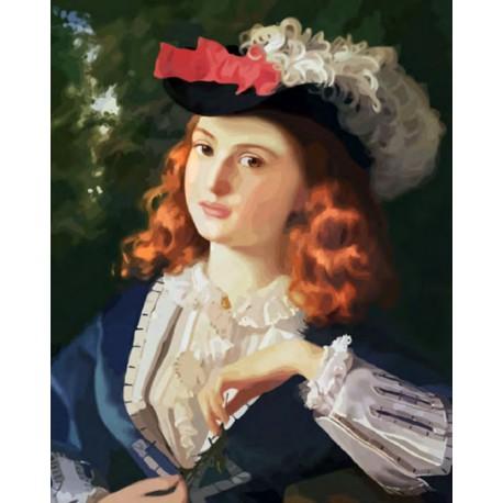 Девушка на охоте Раскраска ( картина ) по номерам на ...
