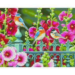 Ворота мальвы Раскраска (картина) по номерам акриловыми красками Dimensions