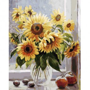 Солнечное настроение Раскраска ( картина ) по номерам акриловыми красками на холсте Белоснежка