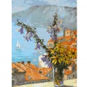Букет с колокольчиками Раскраска ( картина ) по номерам акриловыми красками на холсте Белоснежка