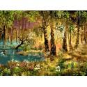 Утро в лесу Раскраска ( картина ) по номерам на холсте Белоснежка
