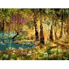 Утро в лесу Раскраска ( картина ) по номерам акриловыми красками на холсте Белоснежка