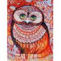 Медовая сова Раскраска ( картина ) по номерам акриловыми красками на холсте Белоснежка
