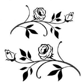 Ветки с цветами Набор прозрачных силиконовых штампов для скрапбукинга, кардмейкинга Stamperia