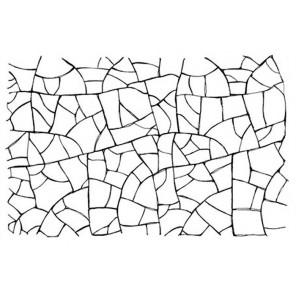 Эффект кракле Штамп на резиновой основе для скрапбукинга, кардмейкинга Stamperia