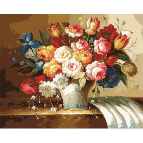 Букет Эсперанс Раскраска (картина) по номерам акриловыми красками на холсте Menglei