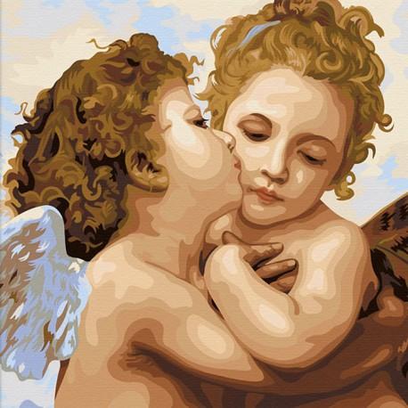 Ангелы Раскраска по номерам акриловыми красками на холсте Color Kit