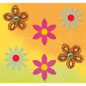 Цветы с бисером Набор брадс  K&Company