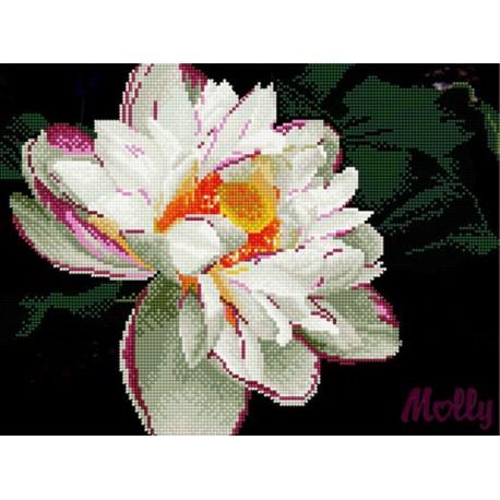 Белый георгин Алмазная частичная вышивка (мозаика) Molly