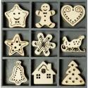 Рождественские сладости Набор деревянных декоративных элементов для скрапбукинга, кардмейкинга cArt-Us