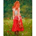 Девушка со скрипкой Раскраска ( картина ) по номерам на холсте Iteso