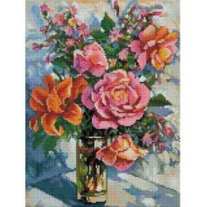 Натюрморт с розами Алмазная вышивка (мозаика) Белоснежка