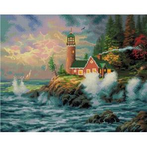 Дом с маяком Алмазная вышивка (мозаика) Белоснежка