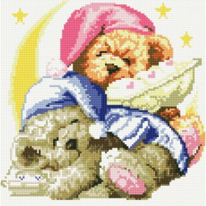 Два медвежонка Алмазная вышивка (мозаика) Белоснежка