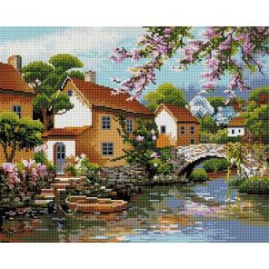 Деревенька у канала Алмазная вышивка (мозаика) Белоснежка
