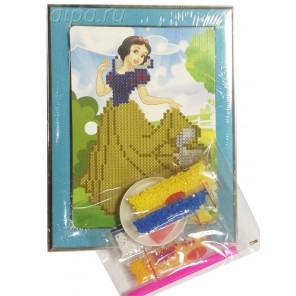 Белоснежка Алмазная частичная мозаика с рамкой Цветной