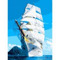 Белые паруса Раскраска по номерам на холсте Color Kit