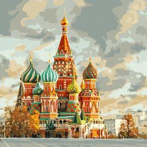 Храм Василия Блаженного Раскраска по номерам акриловыми красками на холсте Color Kit