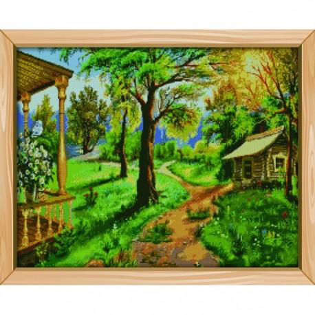 Лето в деревне Алмазная вышивка (мозаика) Цветной