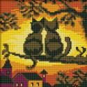 Две Кошки Алмазная вышивка (мозаика) Белоснежка