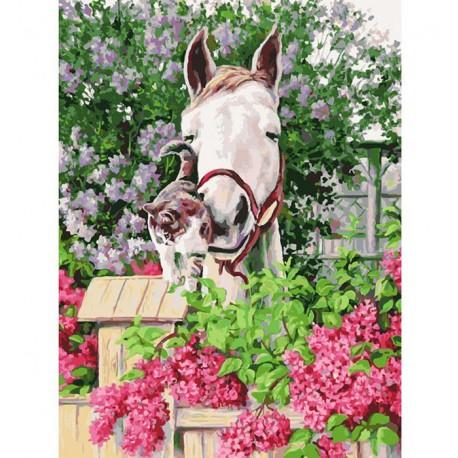 Нежная привязанность Раскраска ( картина ) по номерам акриловыми красками на холсте Белоснежка
