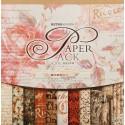 Королевские розы Набор бумаги 30,5х30,5 см для скрапбукинга, кардмейкинга Белоснежка
