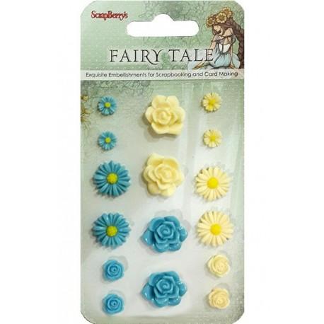 Сказка про Фей 1 Самоклеющиеся объемные цветы Scrapberry's - купить цветы для скрапбукинга