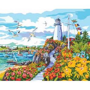 Рай на побережье Раскраска картина по номерам акриловыми красками Plaid | Купить раскраски по номерам