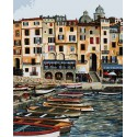 Вид на виллу Раскраска картина по номерам Plaid