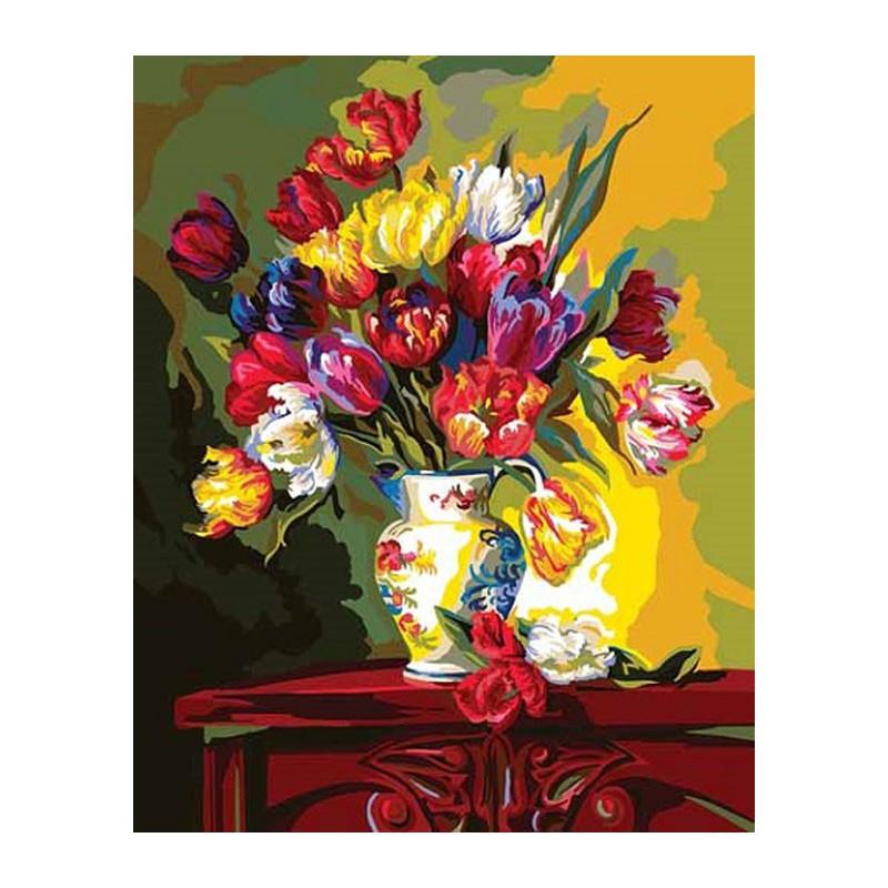 Тюльпаны (художник Фран Ди Джакомо) Раскраска картина по ...