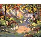 Бухта в солнечных лучах Раскраска картина по номерам акриловыми красками Plaid   Купить раскраски по цифрам