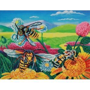 Пчелы и клевер Алмазная частичная вышивка мозаика Color Kit