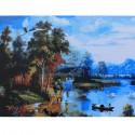 Осенняя пастораль Раскраска картина по номерам на холсте Живопись по номерам (Paintboy)
