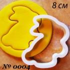 8 см Зайчик Форма для вырезания печенья и пряников | Формочки купить