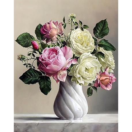 Аура роз Алмазная вышивка мозаика Гранни