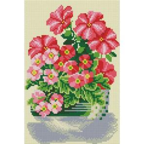 Милые цветы Алмазная вышивка (мозаика) Белоснежка | Картины алмазной мозаики купить