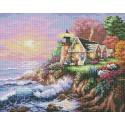 Шумный берег Алмазная вышивка (мозаика) Белоснежка | Картины алмазной мозаики купить