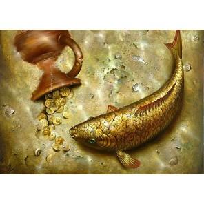 Золотой карп Алмазная вышивка мозаика Гранни