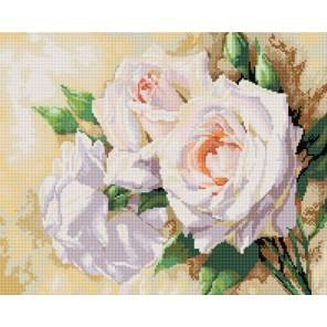 Розовое трио Алмазная вышивка (мозаика) Белоснежка