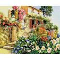 Итальянский дворик Алмазная вышивка (мозаика) Белоснежка | Картины алмазной мозаики купить