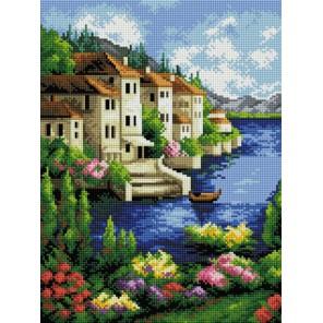Городок на берегу Алмазная вышивка (мозаика) Белоснежка