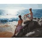 У самого синего моря Раскраска картина по номерам акриловыми красками на холсте Белоснежка